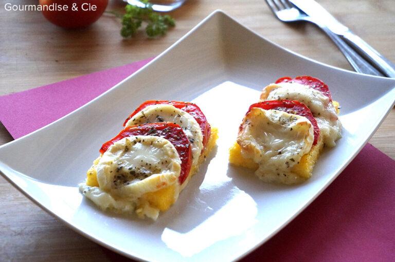 Polenta tomates-chèvre gratinée |Gourmandise & Cie