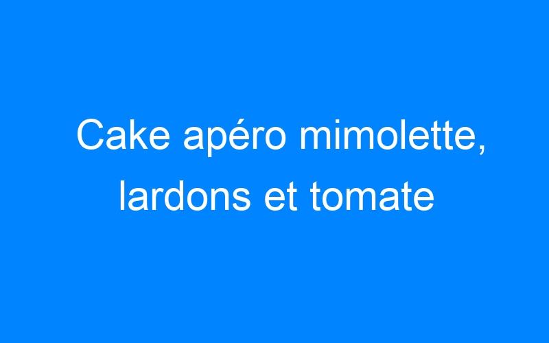 Cake apéro mimolette, lardons et tomate