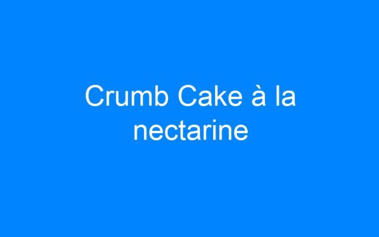 Crumb Cake à la nectarine