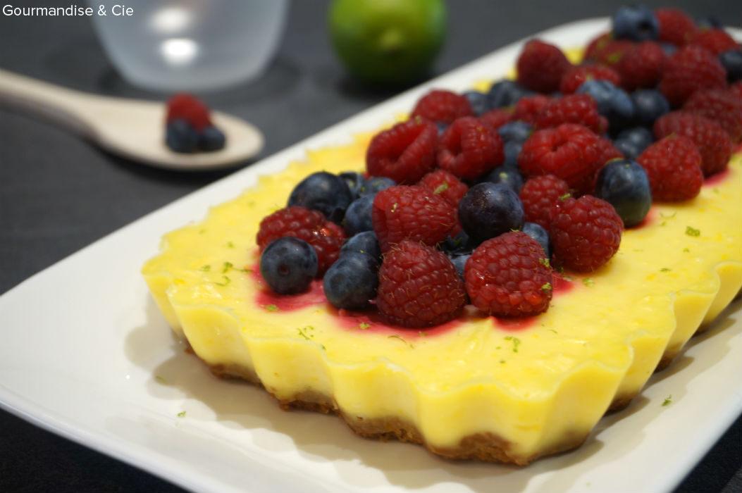 Cheesecake citron facile et rapide à base de mascarpone et fruits rouges