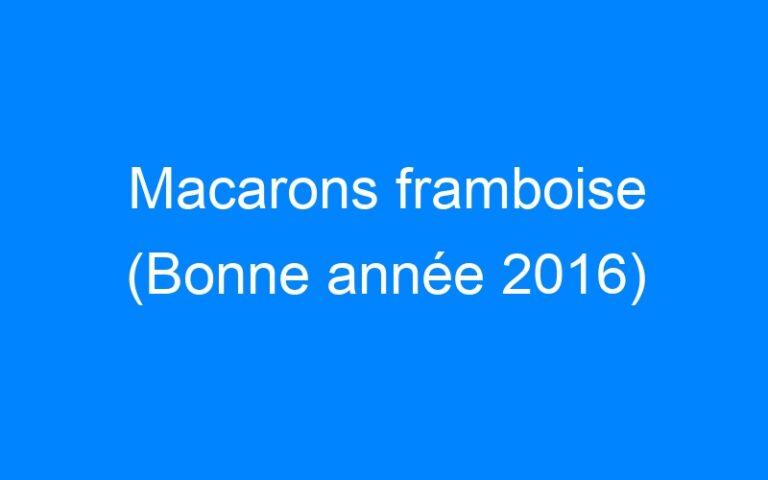 Macarons framboise (Bonne année 2016)