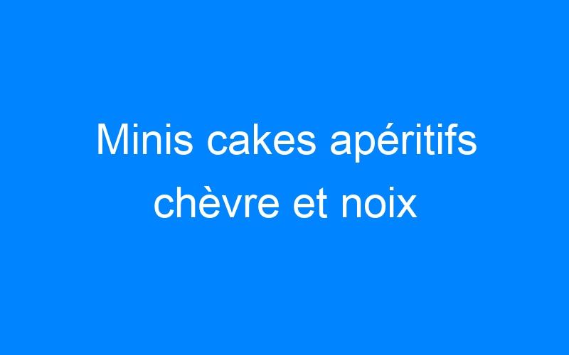 Minis cakes apéritifs chèvre et noix