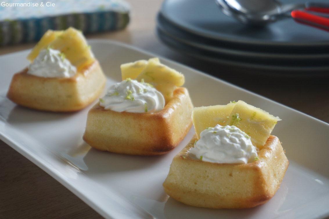 Muffins exotiques façon mojito – citron vert, noix de coco et ananas