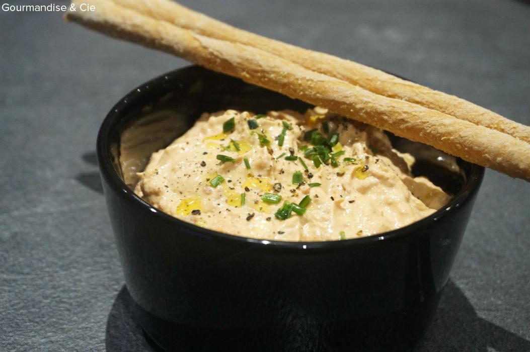 Rillettes de thon et chorizo au St Moret, rapide et facile pour l'apero